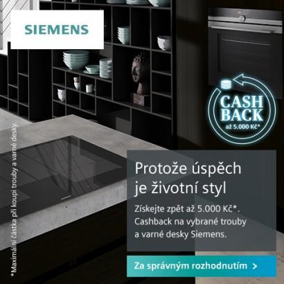 SIEMENS - cashback - peníze zpět